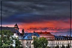 Dramatic Sunset in Munich