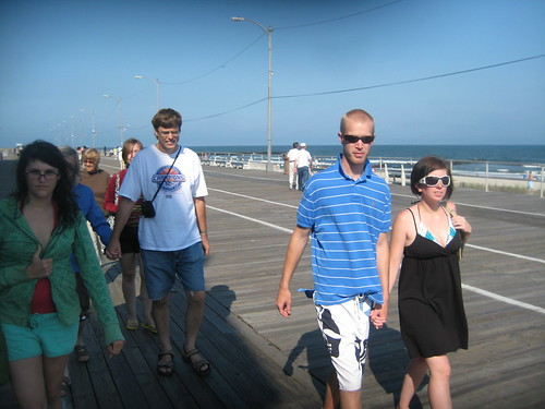 We walked the boardwalk to buy salt water taffy at Schrivers.