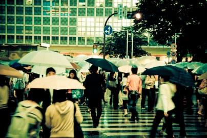 Rain in Shibuya 1