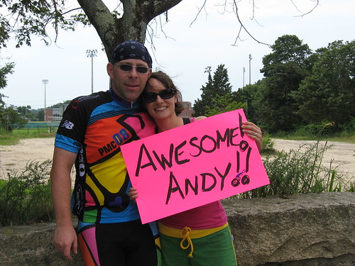 Michele and me, Mile 102 in Wareham (Saturday)... click to see more photos