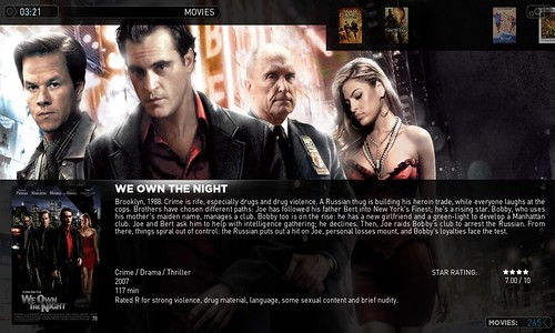 The beauty of XBMC media centre