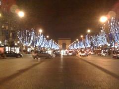arch de triomphe at night