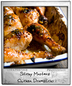Sticky Mustard Chicken Drumsticks