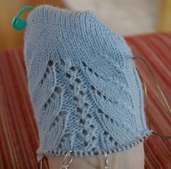 Rococo Socks - 4 repeats done