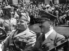 Adolf Hitler and Benito Mussolini in Munich, G...