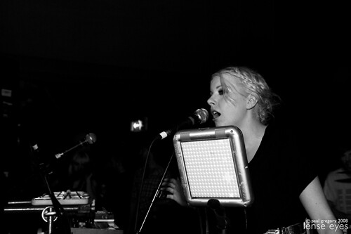 Little Boots and the Tenori-On, live in concert; photo taken by Paul Gregory for Lense Eye