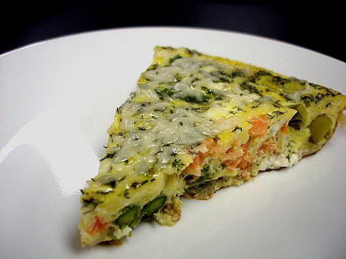 Smoked Salmon & Asparagus Frittata