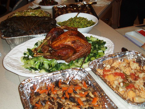Thanksgiving dinner by you.