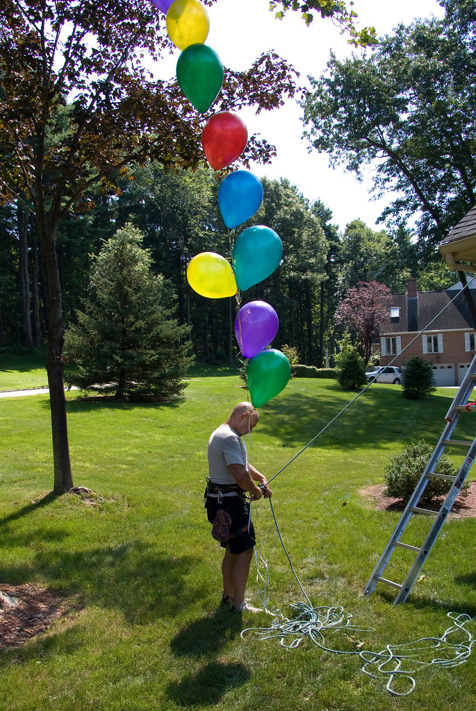 Having established it was safe a repeat run with the balloons