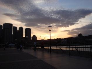 Sun set from Circular Quay1