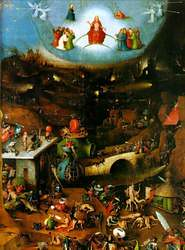 "Hieronymus Bosch, ""El Bosco"". Tabla central de El Juicio Final."