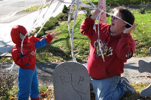 Spider-man webbing Daddy