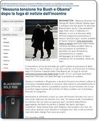 """""""Nessuna tensione fra Bush e Obama"""" dopo la fuga di notizie dall'incontro - esteri - Repubblica.it"""