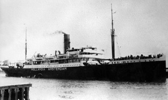 SS Hollandia, the ship my greatgrandfather went to America with.