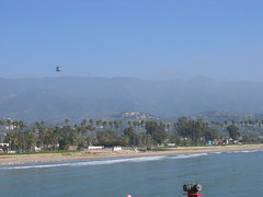 Santa Barbara seen from Stearns Wharf