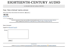 Image of Eighteen-Century Audio Site