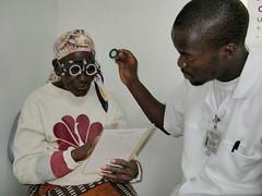 Doing an eye test at Ekwendeni