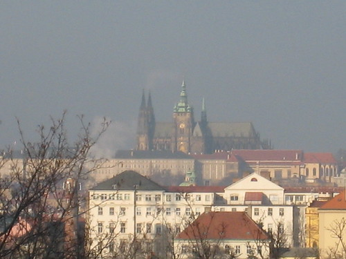 St Vitus Cathedral, in the distance...