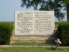 The Lord's Prayer in a Cemetery in Henderson, ...