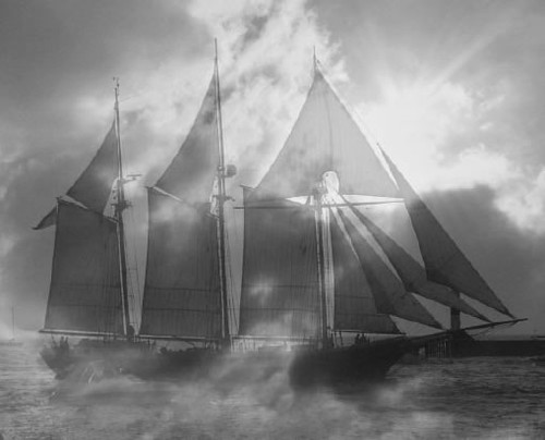 storm and ship