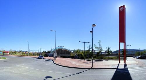 Panorámica exterior de la estación de Alcalá de Henares, La Garena