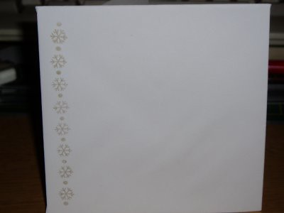 the envelope for the christmas tree card above