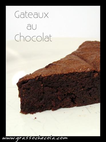 Torta al cioccolato, gateaux au chocolat