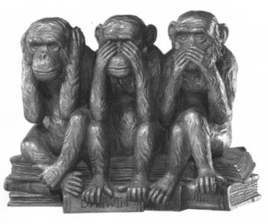 El icono de la negación de lo que esta ahi. 3 Monos.