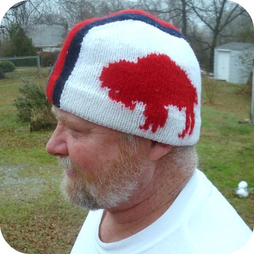 helmet hat on Dad
