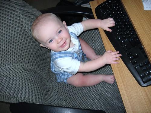 Luke at computer