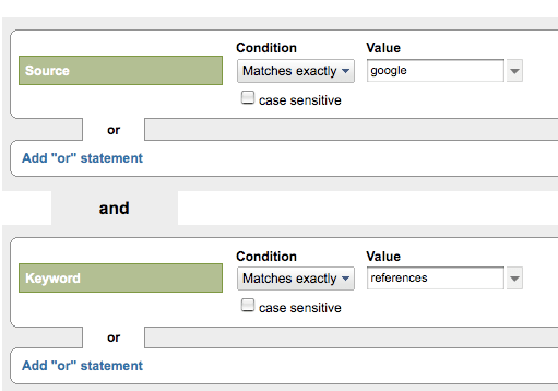Google analytics advanced segment