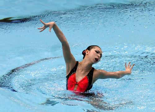 08花泳賽19歲組以上組單人自選冠軍陸嘉敏