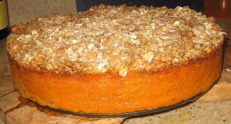 Pumpkin crisp out of oven. Philadelphia 2008