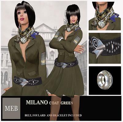 Milano coat green