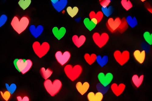 Heart bokeh 2