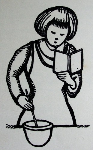 Linocut from vintage cookery book