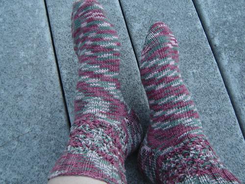 Strawberry Socks - gift for Aunt Gail\'s birthday June 2008