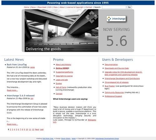 Interchange website