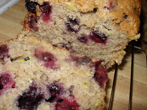 Zucchini Bread w/Blueberries