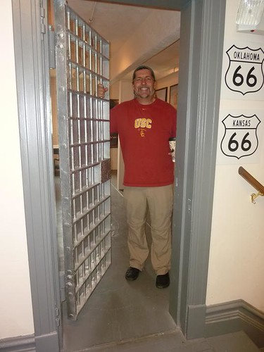 IL, Pontiac 102 - Route 66 Museum Dave in Jail Cell door