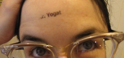 mr yogato stamp on forehead