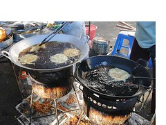Frying chai pia 1