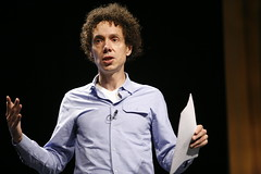 Malcolm Gladwell speaking, talking, lecturing, presentation, conference