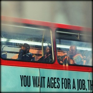 you wait ages for a job