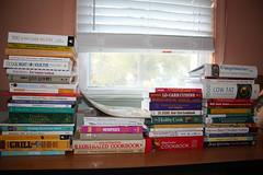 Piles of Cookbooks