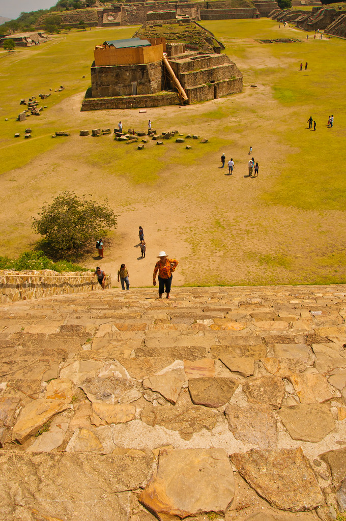 Part of the main plaza, Monte Alban