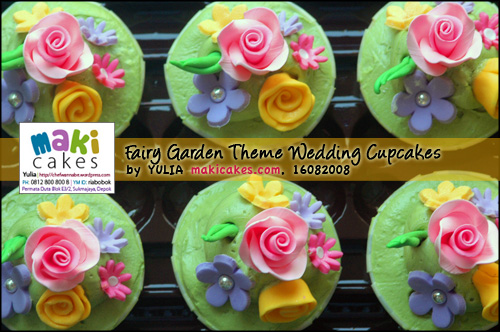 Fairy Garden Theme Wedding Cupcakes-detail1 - Maki Cakes