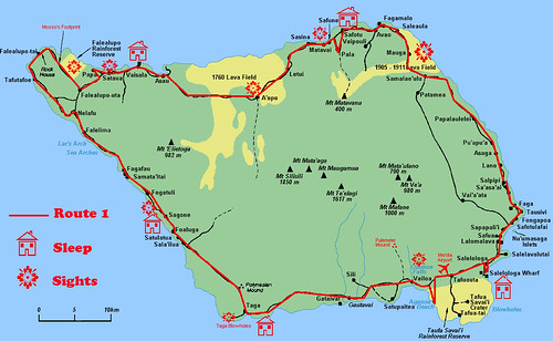 Savaii Route Map