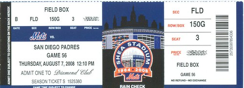 Mets vs Padres Ticket