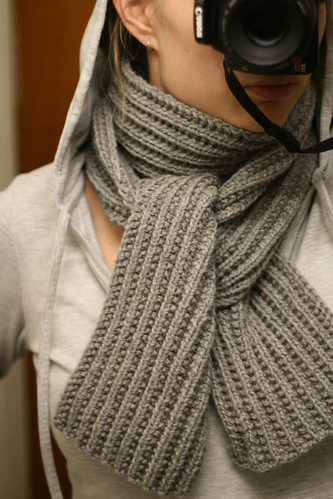 Moss Stitch Scarf in Patons Classic Wool